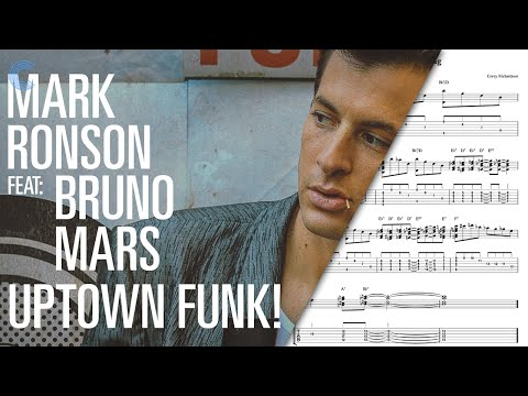Sheet music chords and more trumpet uptown funk mark ronson