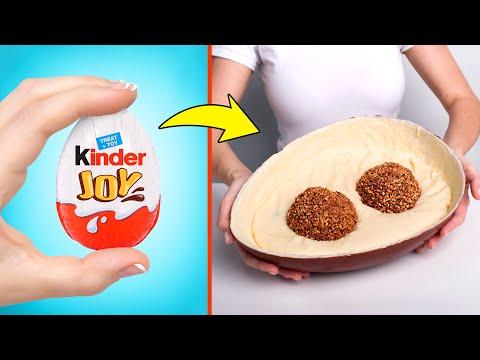 Cách Làm Trứng Kinder Joy Phiên Bản Khổng Lồ