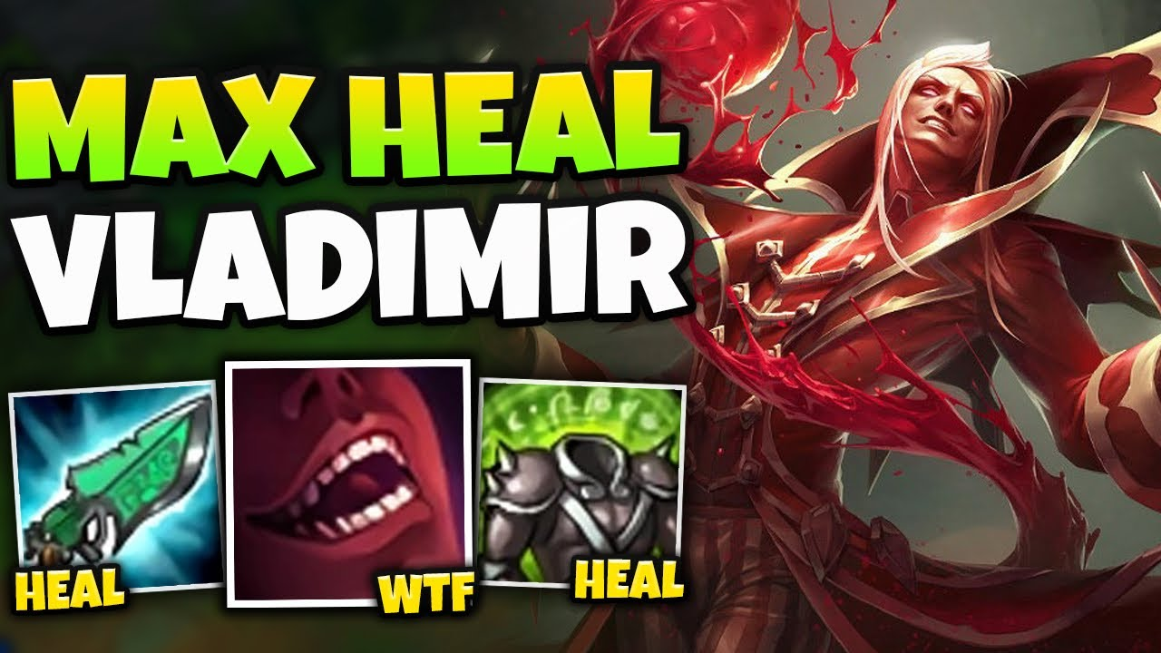 WTF?! VAMPIRE VLADIMIR CAN LEGIT HEAL THROUGH ANYTHING! (STEAL HEALTH) - League of Legends