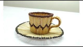 How to make Matchstick Tea cup | Matchstick Art