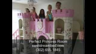 Girls Castle Bed | Girls Princess Room | Kids Theme Rooms | Unique Custom Kids Theme Beds