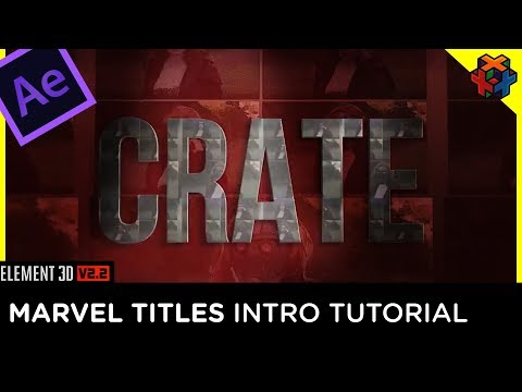 💬 Create the Marvel Studios Intro in After Effects and Element3D