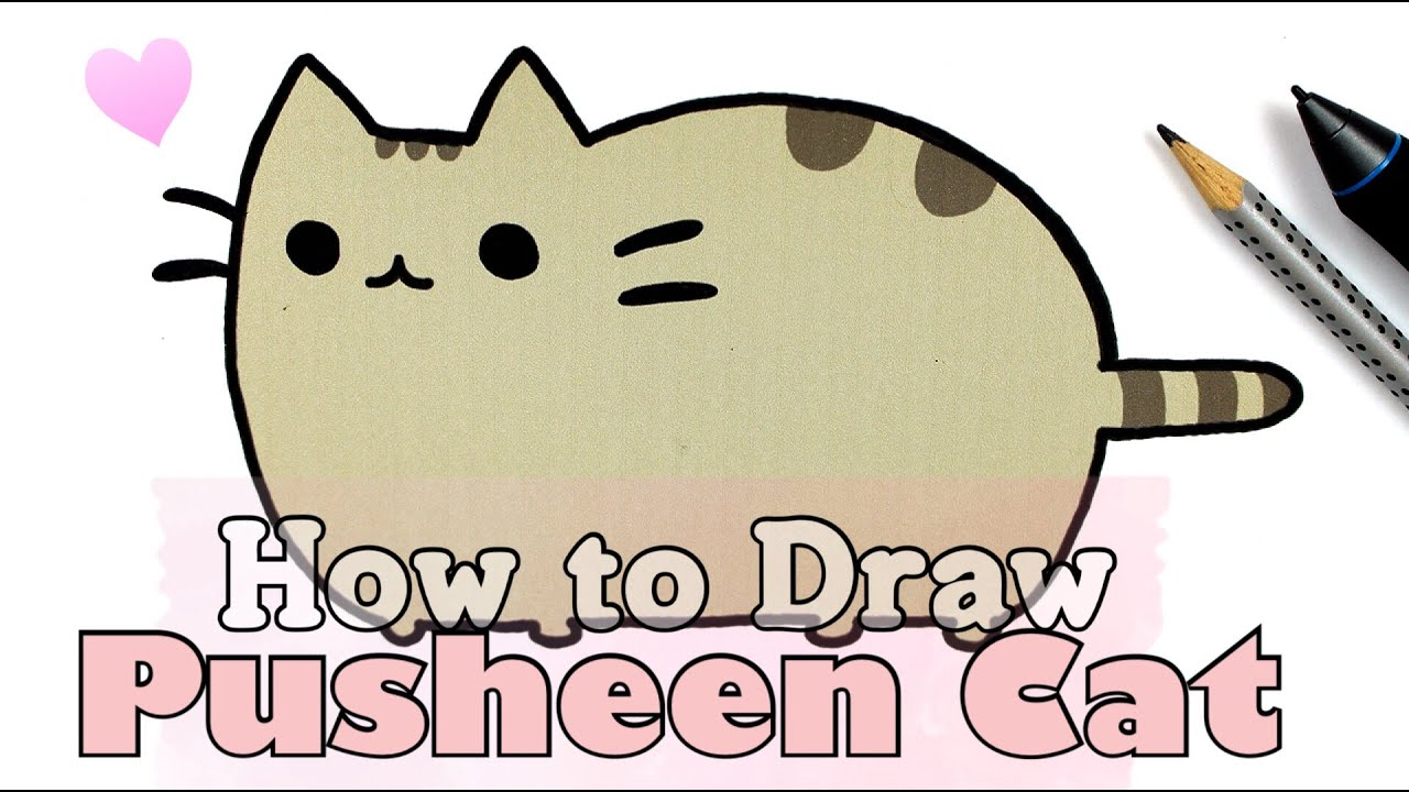 how to draw pusheen cat collab with fimokawaiiemotions youtube