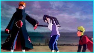 Hinata Protects Naruto from Pain | Naruto Shippuden Ultimate Ninja Storm 2 Game