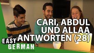 Cari, Abdul und Allaa antworten (28) - Reden beim Essen | Lange deutsche Wörter