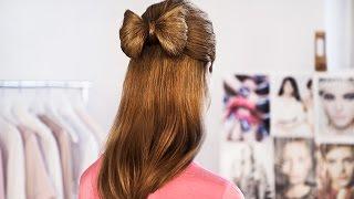 Бант из волос. Прическа - бант из волос