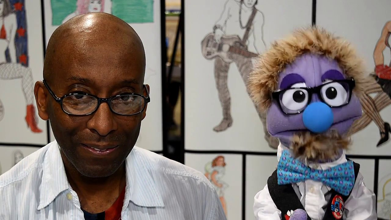 that time artist comedian pierre bernard jr talked to a puppet at the 2017 long beach comic. Black Bedroom Furniture Sets. Home Design Ideas