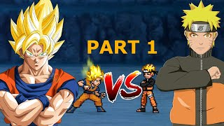 Goku (All Forms) VS Naruto (All Forms) Part 1