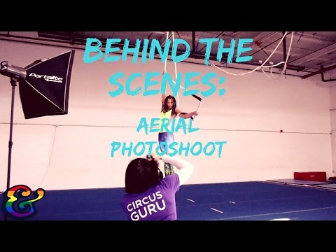 Behind The Scenes of Aerial Photoshoot at Toronto School of Circus Arts