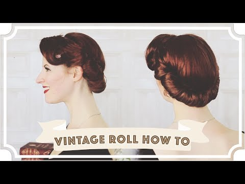 Vintage Up Do Roll How To // Easy Vintage Hair [CC]