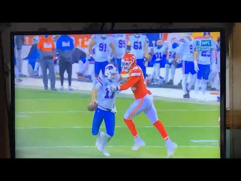 Bills Josh Allen Throws Ball At Chiefs Alex Okafor In Another Classless Move For Buffalo Bills QB