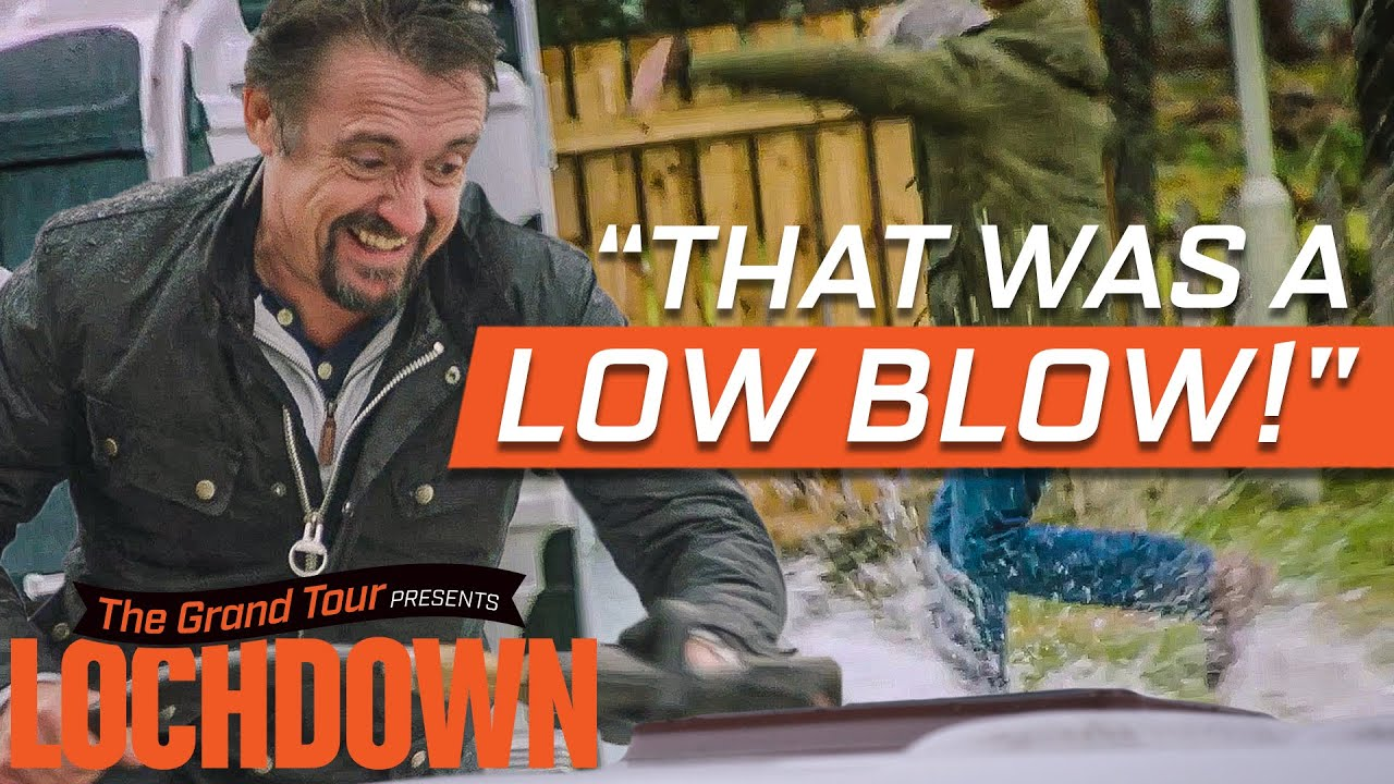 James May is Washed Away by His 'Leaking' Caravan | The Grand Tour: Lochdown