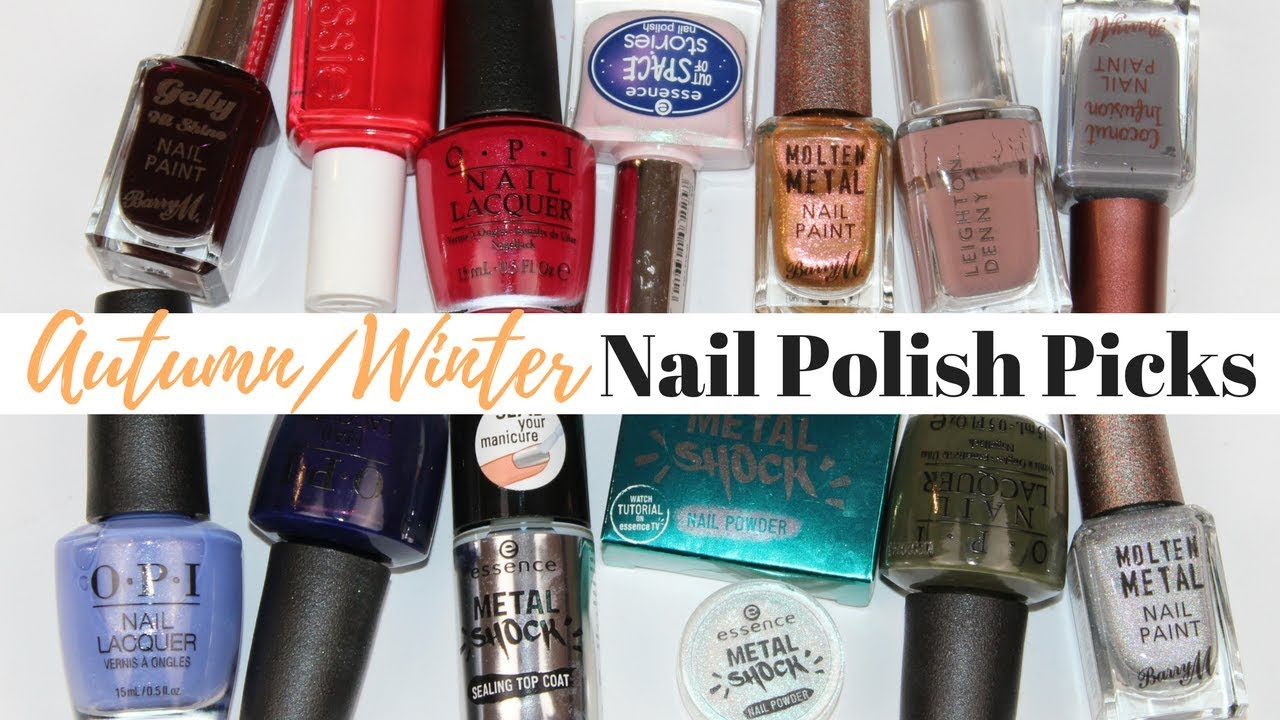 Top 10 Autumn/Winter Nail Polish Picks and Trends 2017 - YouTube