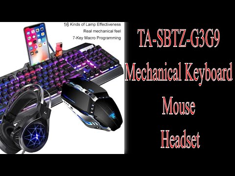 TA SBTZ G3G9 Mechanical Keyboard And Mouse Headset | Shop For Gamers #keyboard #mouse #headset #game