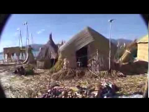 Lake Titicaca Peru and Bolivia, floating  island, podroze po