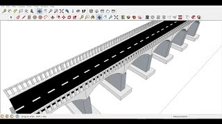 Google sketchup  simple bridge tutorial within 10 minutes
