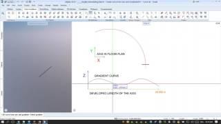 Allplan 2018: إنشاء B-Spline منحنى من محور التدرج