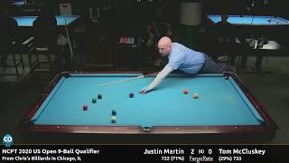 Justin Martin vs Tom McCluskey - 2020 NCPT US Open Qualifier #2