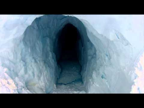 Andy discovers moulin tunnels - Operation Iceberg - Episode 1 - BBC Two