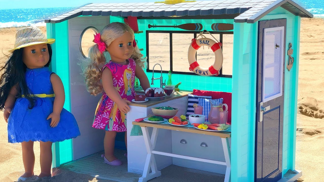 Our generation beach house playset youtube for Generation house