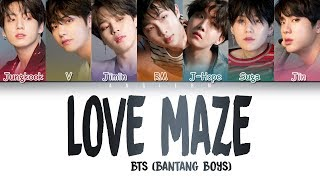 BTS (방탄소년단) - Love Maze [Color Coded Lyrics|Han|Rom|Eng]