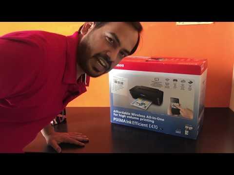 CANON PIXMA E470 / Wireless Printer / #Technology Rewind / #Vlog1 /