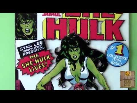 3D Comic Book Cover Cardboard Art (Deadpool, Harley Quinn, She-Hulk)