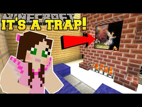 Minecraft: THIS PAINTING IS A TRAP!!! - Christmas Find The Button - Custom Map