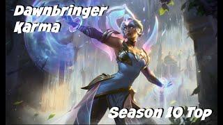 League of Legends: Dawnbringer Karma Top Gameplay