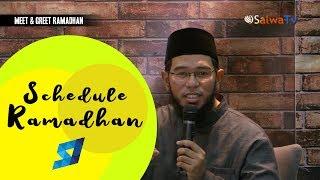 Schedule Ramadhan - Ustadz Muhammad Nuzul Dzikri