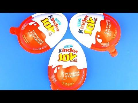 Киндер Джой Сюрприз Тачки Маша и Медведь Хелло Китти Kinder Joy Surprise Egg Toys