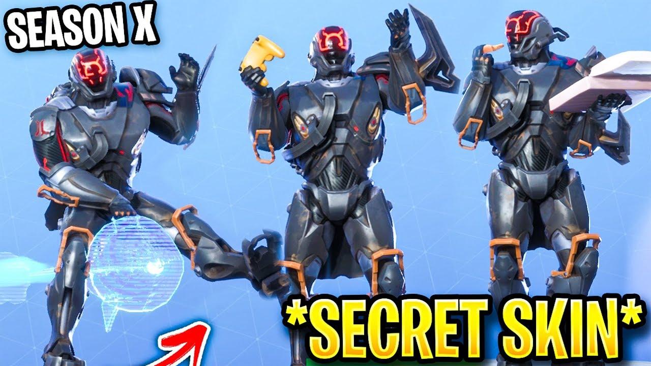 Fortnite Free Visitor Volta Secret Skin Mystery Skin Season X