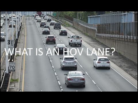 What are HOV lanes?