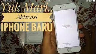 Aktivasi Iphone Resmi BARU (iphone 6 32 GB Garansi Erafone setelah Unboxing bahasa indonesia)