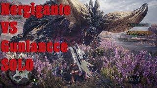 Monster Hunter World Beta Nergigante fight Solo Gunlance