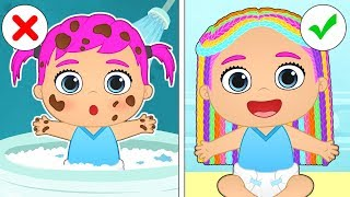 BABY ALEX AND LILY Beauty Session and Makeovers | Educational Cartoons