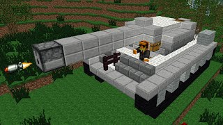Minecraft: Como fazer tanque de guerra realístico que ATIRA!!!