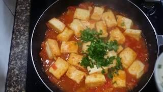 cách làm đậu hũ sốt cà chua thơm ngon.
