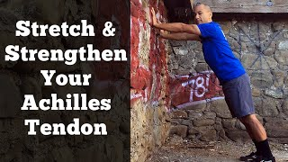 achilles tendon stretch mobilization for ankle calf tightness
