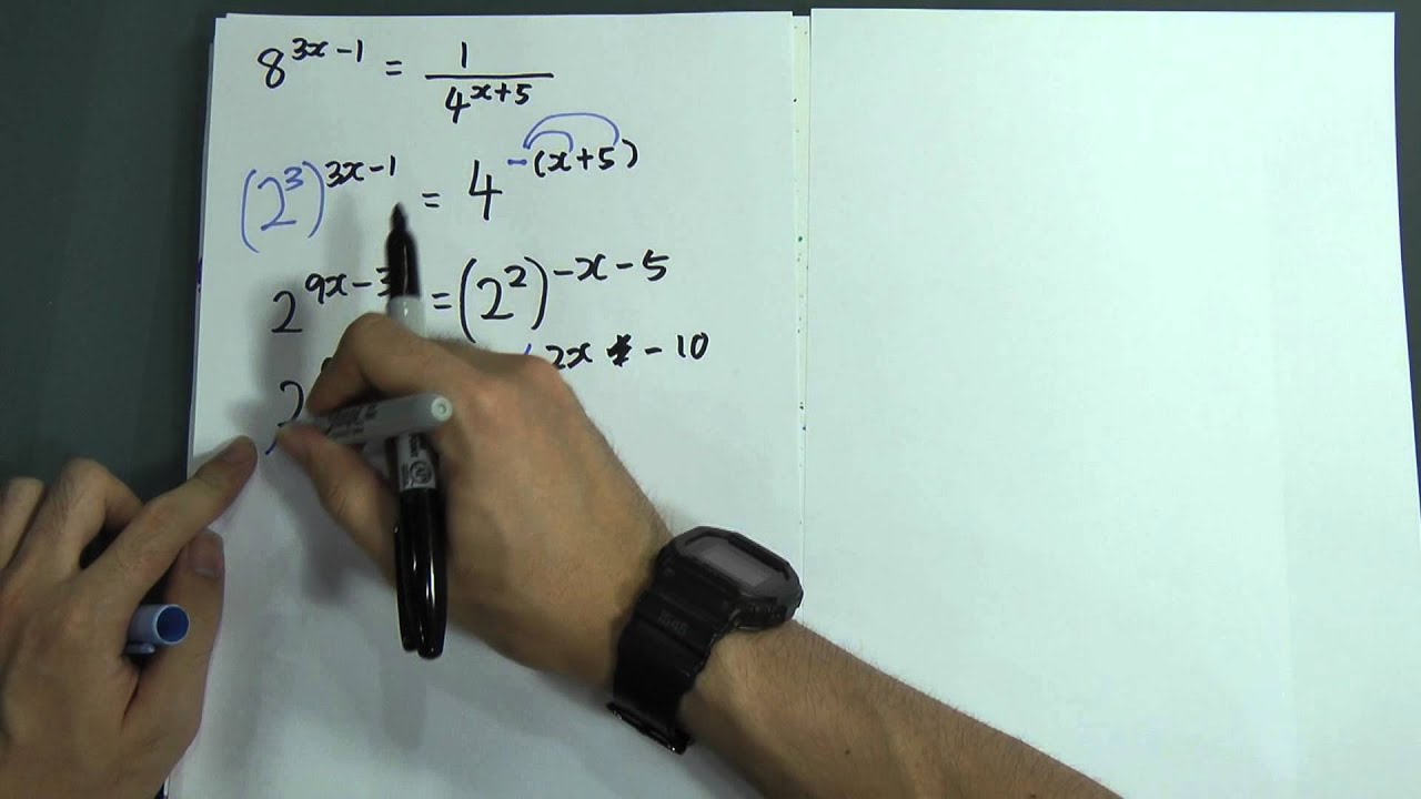 SPM - Form 4 - Add Maths - Indices (simple) - YouTube