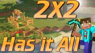 Minecraft: How to make a 2x2 House in Minecraft with EVERYTHING without Cheating: House Tutorial