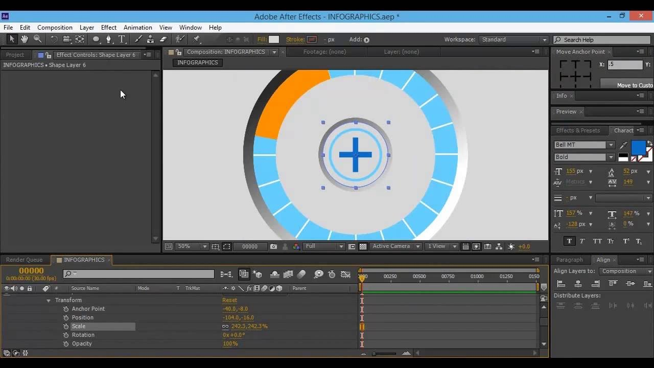 After Effects Tutorial: Creating Infographics Page - YouTube