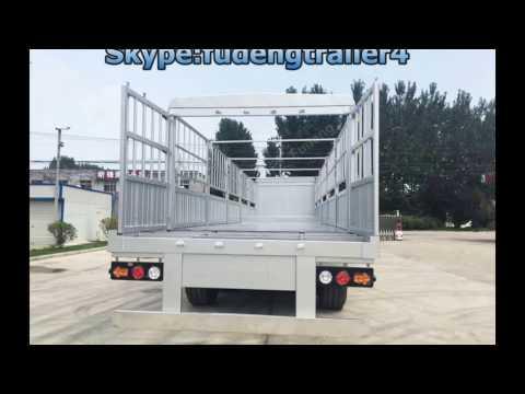 Best selling 3 axles fence truck trailer, cattle trailer,livestock transport trailer for sale
