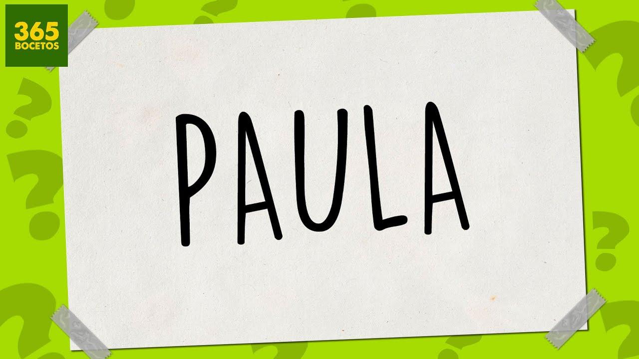 SACAR UN DIBUJO DE MI NOMBRE  Dibujos fciles paso a paso  PAULA