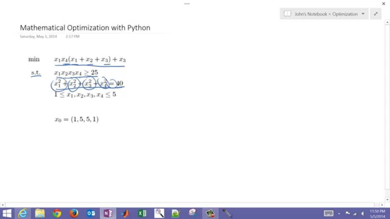 Mathematical Optimization with Python
