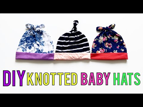 2 DIY BABY HATS. | KNOTTED BABY HAT TUTORIAL