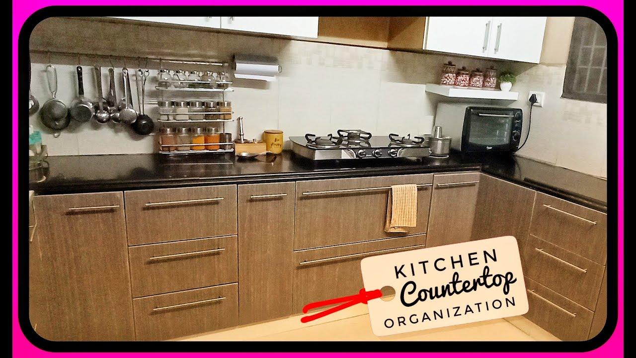 சமையலறை கவுண்டர்டாப் | kitchen countertop tour | kitchen ...
