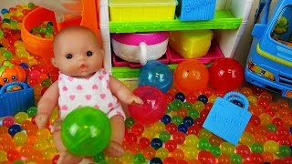 Baby doll and Surprise eggs Orbeez toys with Shopkins | [토이푸딩] ToyPudding TV