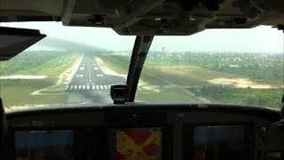 Cessna 208B Grand Caravan - Approach and landing into Pekanbaru airport, Indonesia