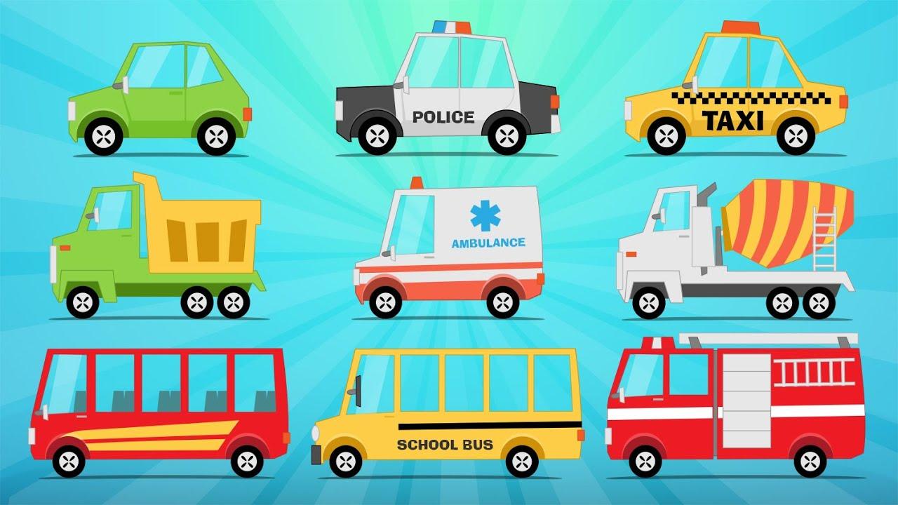 Learn Street Vehicles In English For Kids تعليم وسائل النقل باللغة الإنجليزية للاطفال Youtube
